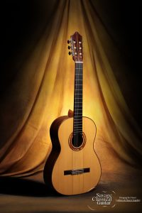 Woodley White Classical Guitar - November 2009