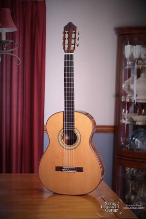 Ashley Sanders Classical Guitar #62 2016 Cedar Ziricote